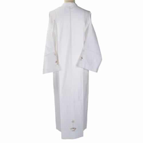 Camice bianco cotone calice pane s4