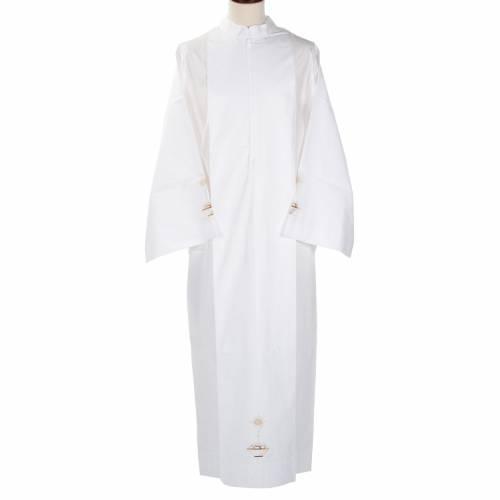Camice bianco lana calice pane s1