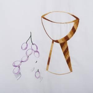 Camice bianco cotone calice uva s2