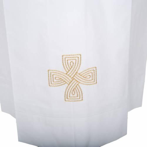Camice bianco lana croce dorata s2