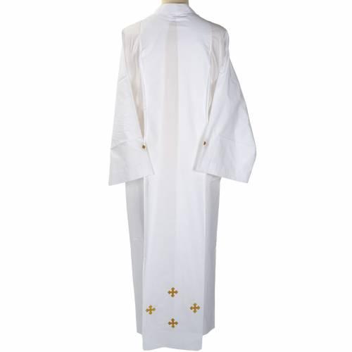 Camice bianco cotone croci decorate s4