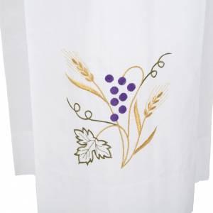 Camice bianco lana spiga uva s2