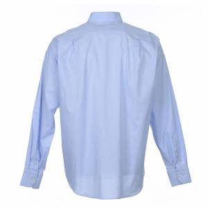 Camicie Clergyman: Camicia clergy M. Lunga Linea Prestige Misto cotone Celeste