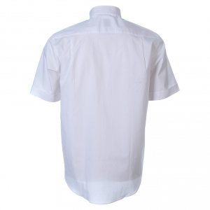 Camicie Clergyman: Camicia clergy manica corta popeline bianca