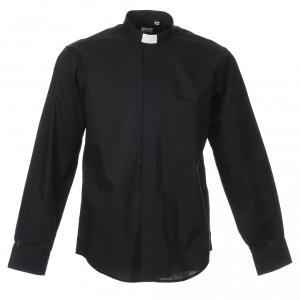 Camicie Clergyman: Camicia clergyman manica lunga misto nera