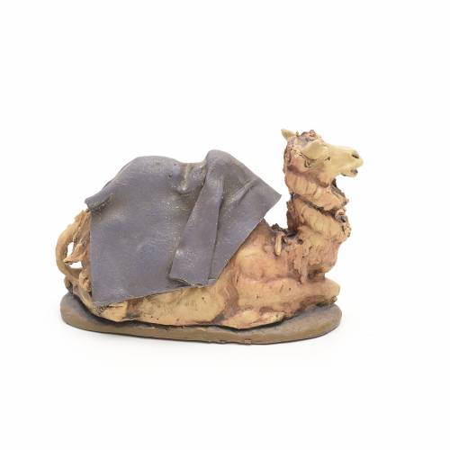 Cammello viola terracotta Deruta 18 cm s2