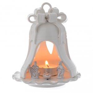 Belén terracota Deruta: Campana candelero de Navidad terracota Deruta 12 cm