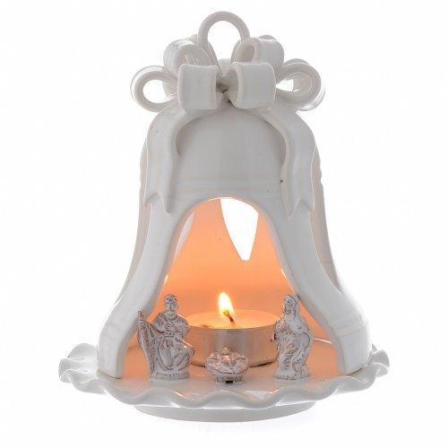 Campana lume per Natale terracotta Deruta 12 cm s1