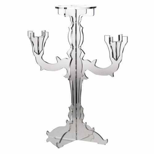 Candélabre plexiglas 3 branches transparente s1