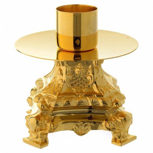Candeliere 13 cm ottone dorato s2
