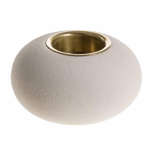 Candeliere argilla refrattaria bronzo mod. Ellisse 9 cm s1