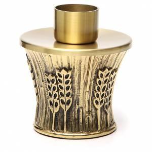 Candeliere Molina ottone dorato spighe s6