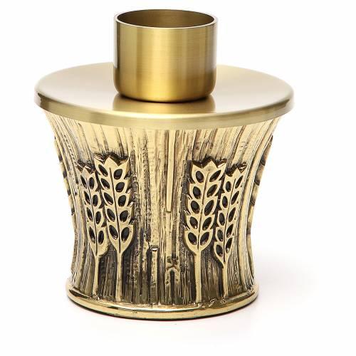 Candeliere Molina ottone dorato spighe s7