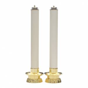Candle set with fake candles and candle holders, two pieces s1