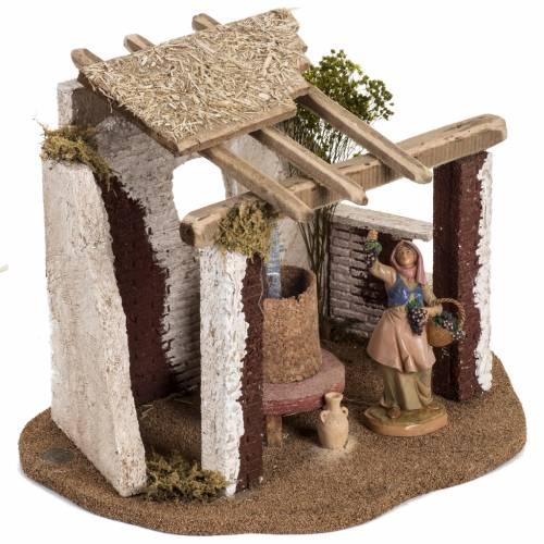 Cantina presepe Fontanini per villaggio cm 12 s2