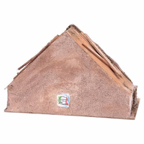 Capanna con mangiatoia in mezzo 20x30x15 cm s4