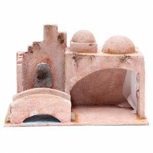 Capanne Presepe e Grotte: Capanna di stile arabo con laghetto 18,5x29x15 cm