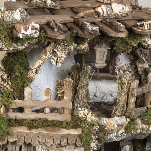 Capanna presepe 80x110x70 cm borgo e fontana s3