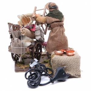 Cart of the evicted for animated Neapolitan Nativity, 14cm s4