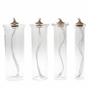 Cartouche en verre pour bougies à cire liquide s1