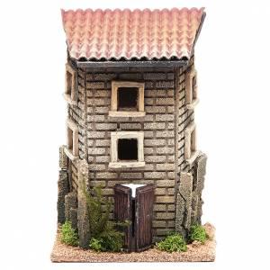 Ambientazioni, botteghe, case, pozzi: Casa 22x15x12 in sughero presepe