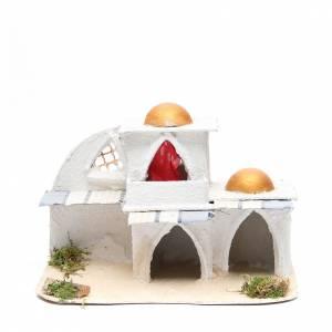 Ambientazioni, botteghe, case, pozzi: Casa araba cm 21,5x29x17 per presepe