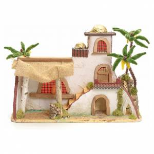 Casas, ambientaciones y tiendas: Casa árabe estucada con toldo y palmeras 30x43x18