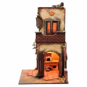 Belén napolitano: Casa con doble arco con luz y horno belén Napolitano
