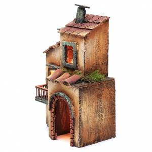 Casa in legno 28X17X11 presepe napoletano s6