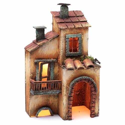 Casa in legno 28X17X11 presepe napoletano s3