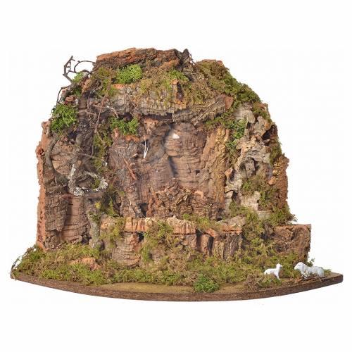 Cascade avec pompe, décor crèche 30x32x30cm s1