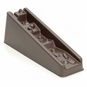 Pompe acqua presepe e motorini: Cascata marrone a gradini per presepe