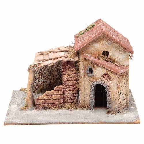 Case in sughero e resina presepe Napoli 20x28x26 cm s1