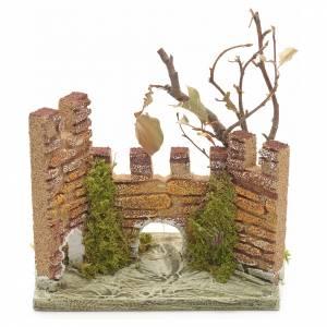 Ambientazioni, botteghe, case, pozzi: Castello medioevale per presepe