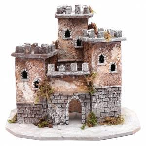 Neapolitan Nativity Scene: Castle with three towers 30x25x25 cm for Neapolitan nativity scene
