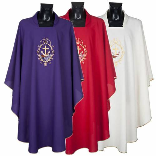 Casula liturgica e Stola stemma francescano s1
