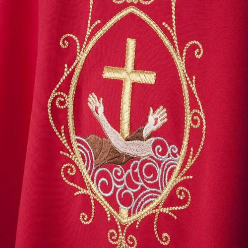 Casula liturgica e Stola stemma francescano s4