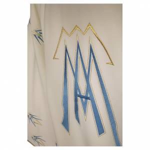 Casule: Casula ricamata simbolo mariano poliestere