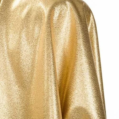 Casula sacerdotale oro 3 croci rosse verdi s5