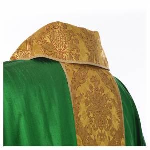 Casula sacerdotale seta 100% ricamo dorato s11