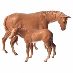 Presepe Moranduzzo: Cavallo e puledro Moranduzzo 8 cm