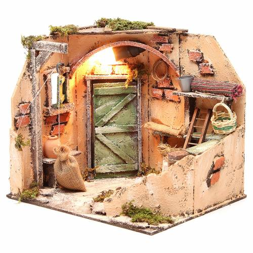 Cellar setting 28x26x24cm neapolitan nativity s2