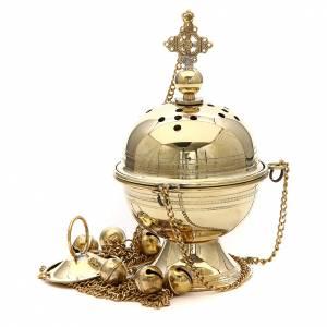 Censer in brass Bethlehem monks 23cm s1