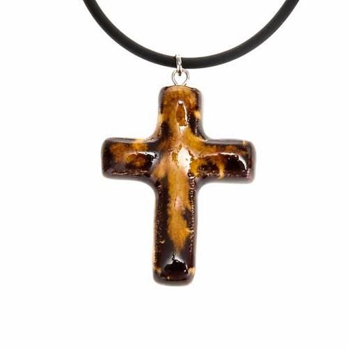 Ceramic cross pendant s2