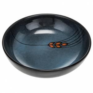 Ceramics Chalices Ciborium and Patens: Ceramic decorated paten , 16 cm, Turquoise