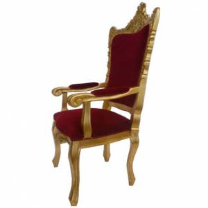 Chair, baroque style in carved wood, gold leaf H145 cm s2