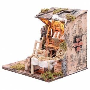 Chair mender Neapolitan Nativity scene, 24x26x24cm s2