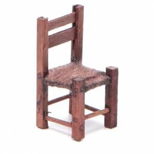 Chaise bois 5x2,5x2,5 cm crèche napolitaine s1