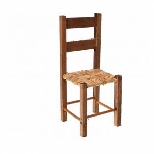 Chaise empaillée crèche napolitaine 11x4,5x4,5 cm s1