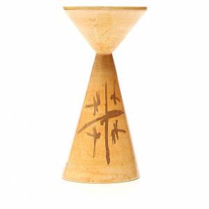 Ceramics Chalices Ciborium and Patens: Chalice Sloping mustard-colour, Cana Line
